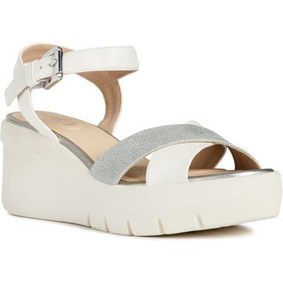 Geox Torrence Platform Sandal - White