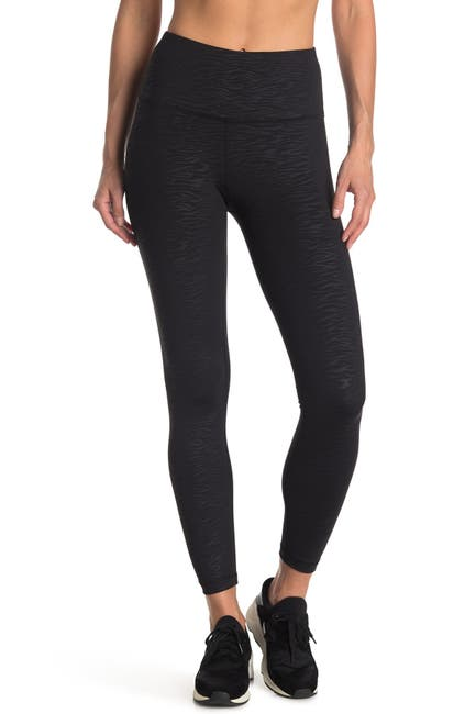 Image of 90 Degree By Reflex Interlink High Waisted Embossed Leggings