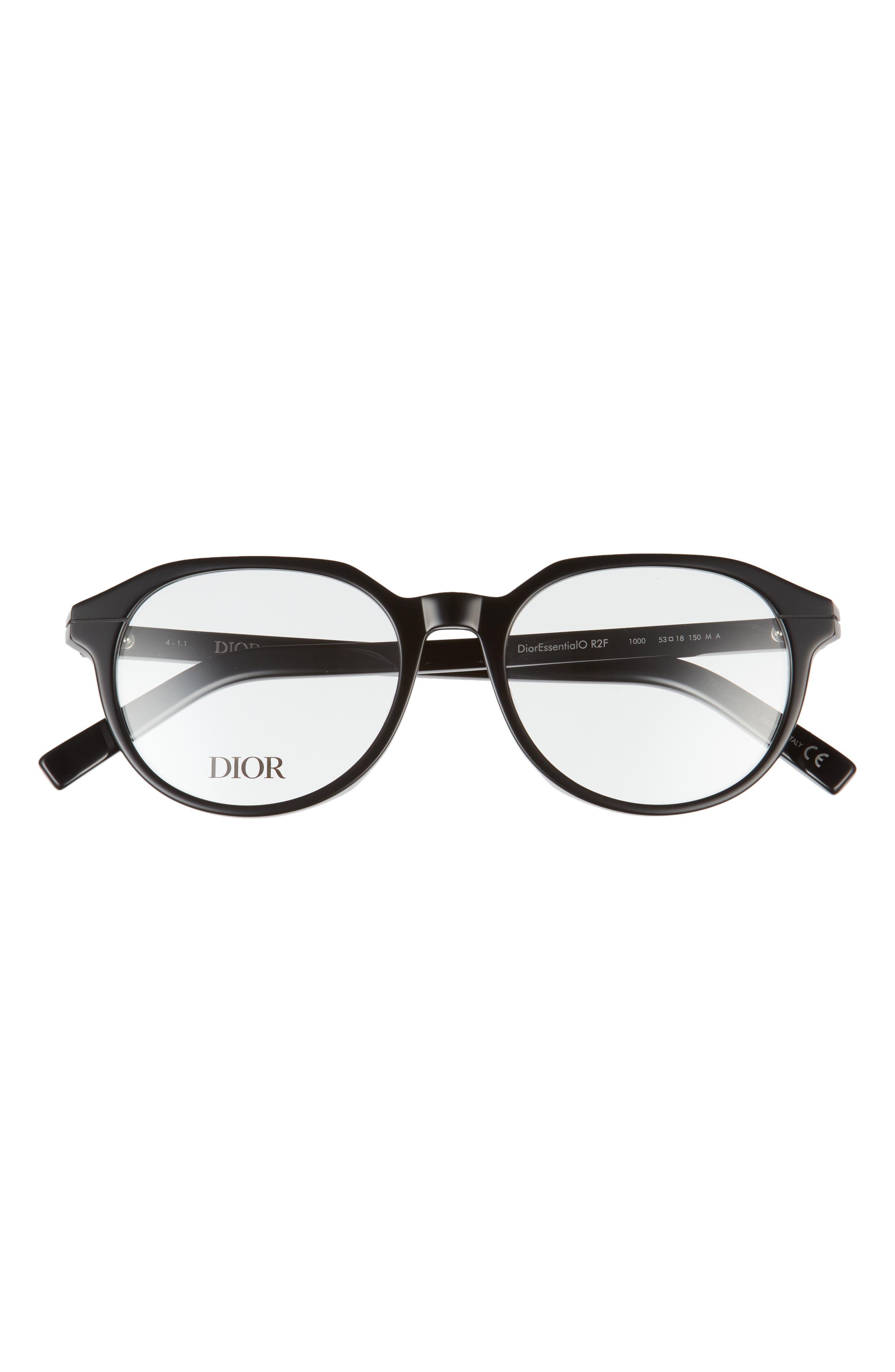 Men's Dior 53mm Round Optical Glasses