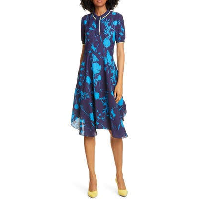 Ted Baker London Bluebell Collar Dress, (fits like 14 US) - Blue