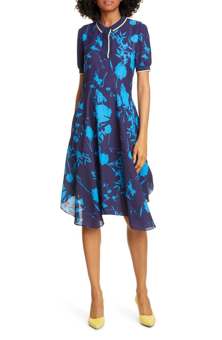 TED BAKER LONDON Bluebell Collar Dress, Main, color, DK-BLUE