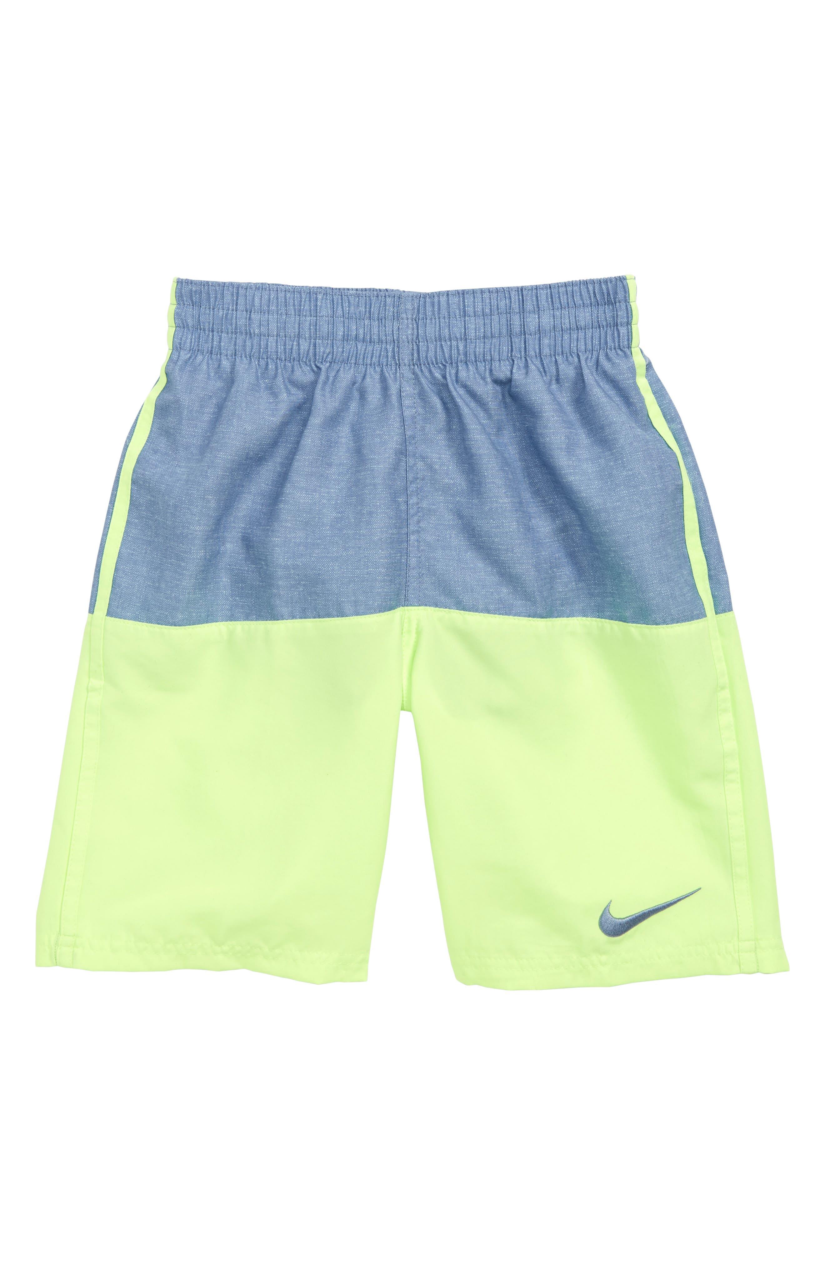 Split Volley Shorts, Main, color, VOLT GLOW