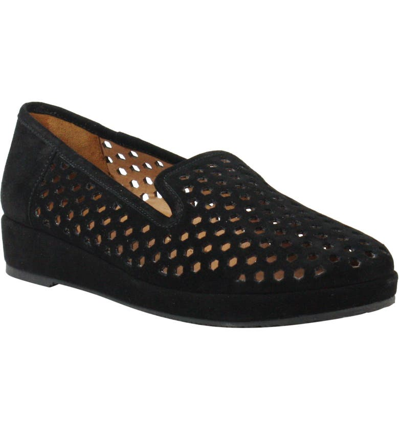 L'AMOUR DES PIEDS Clemence Loafer, Main, color, BLACK SUEDE