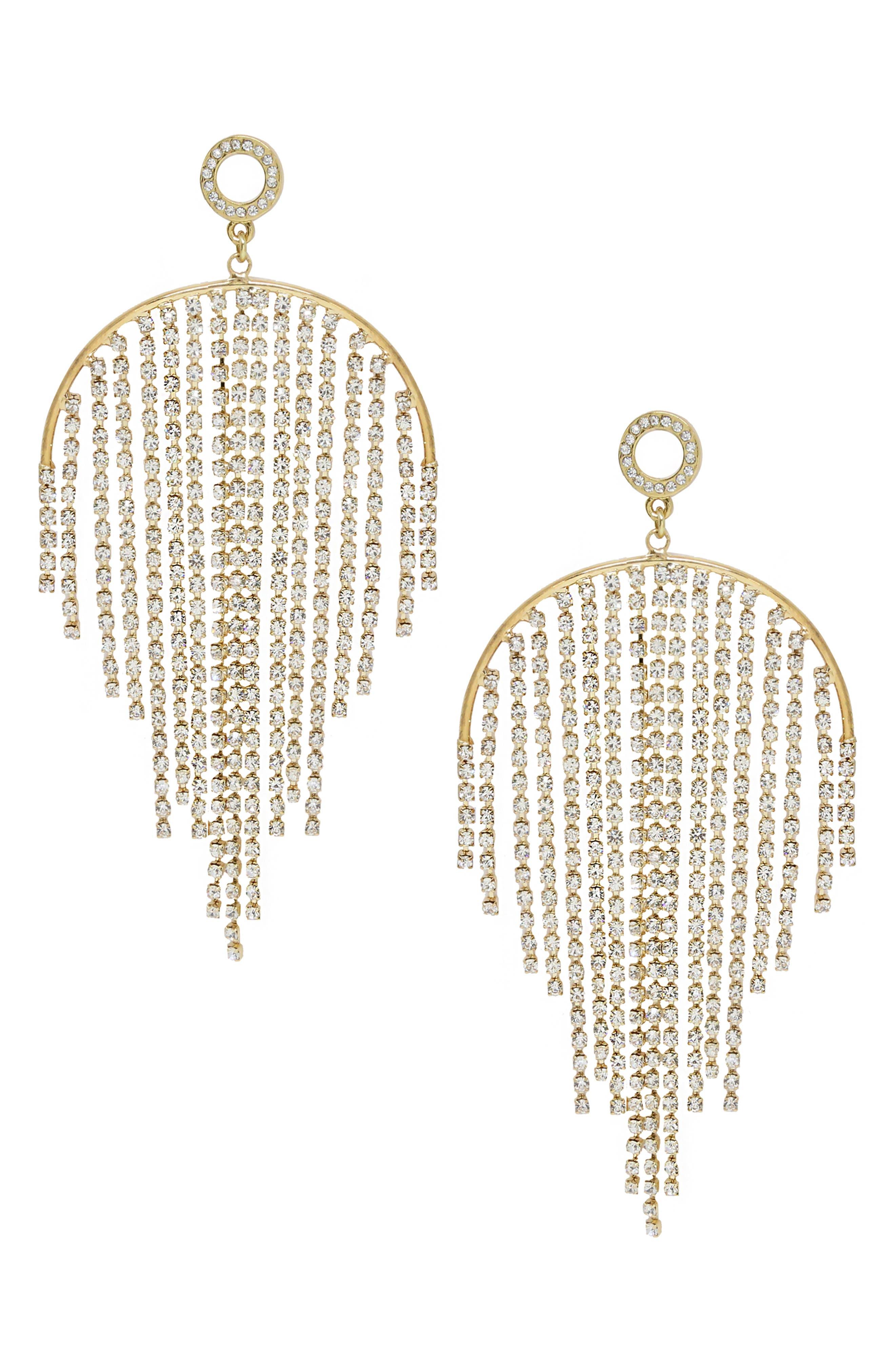 Crystal Fringe Earrings