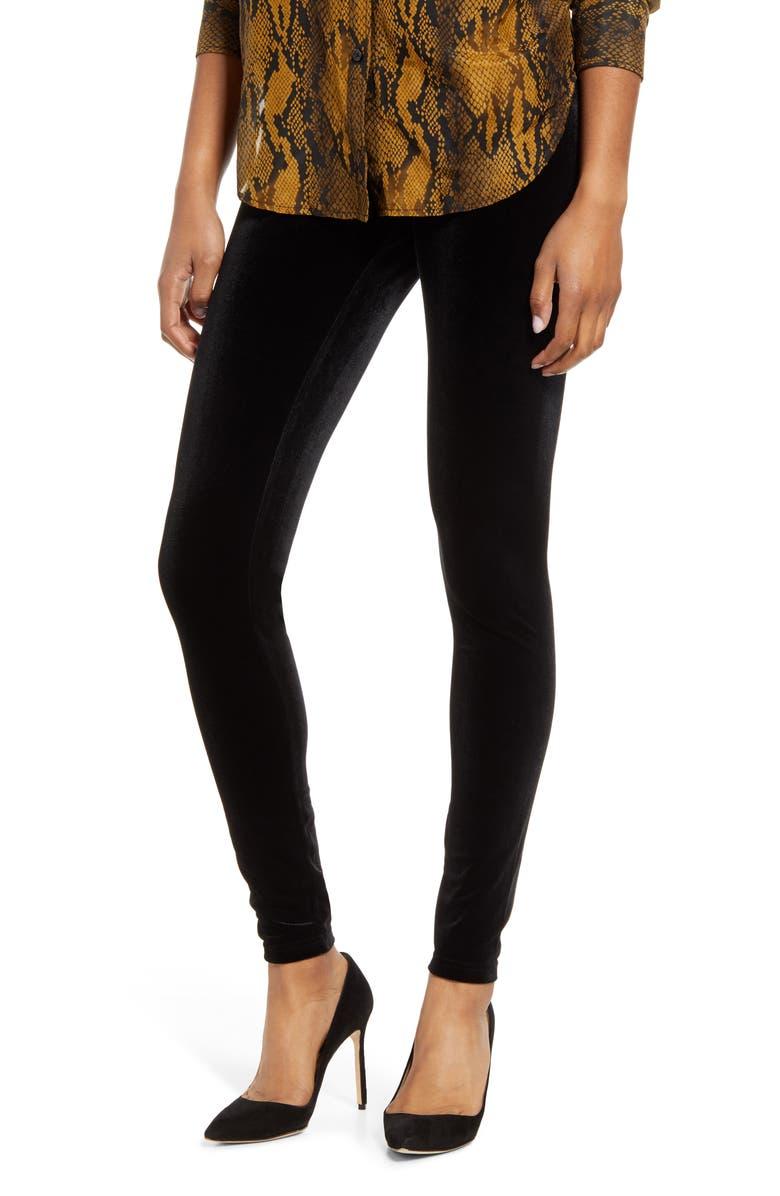 HUE Velvet Leggings, Main, color, 001