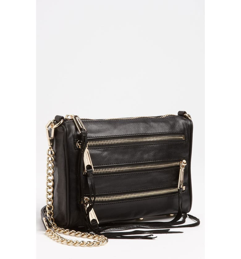 REBECCA MINKOFF Zip Crossbody Clutch, Main, color, 001