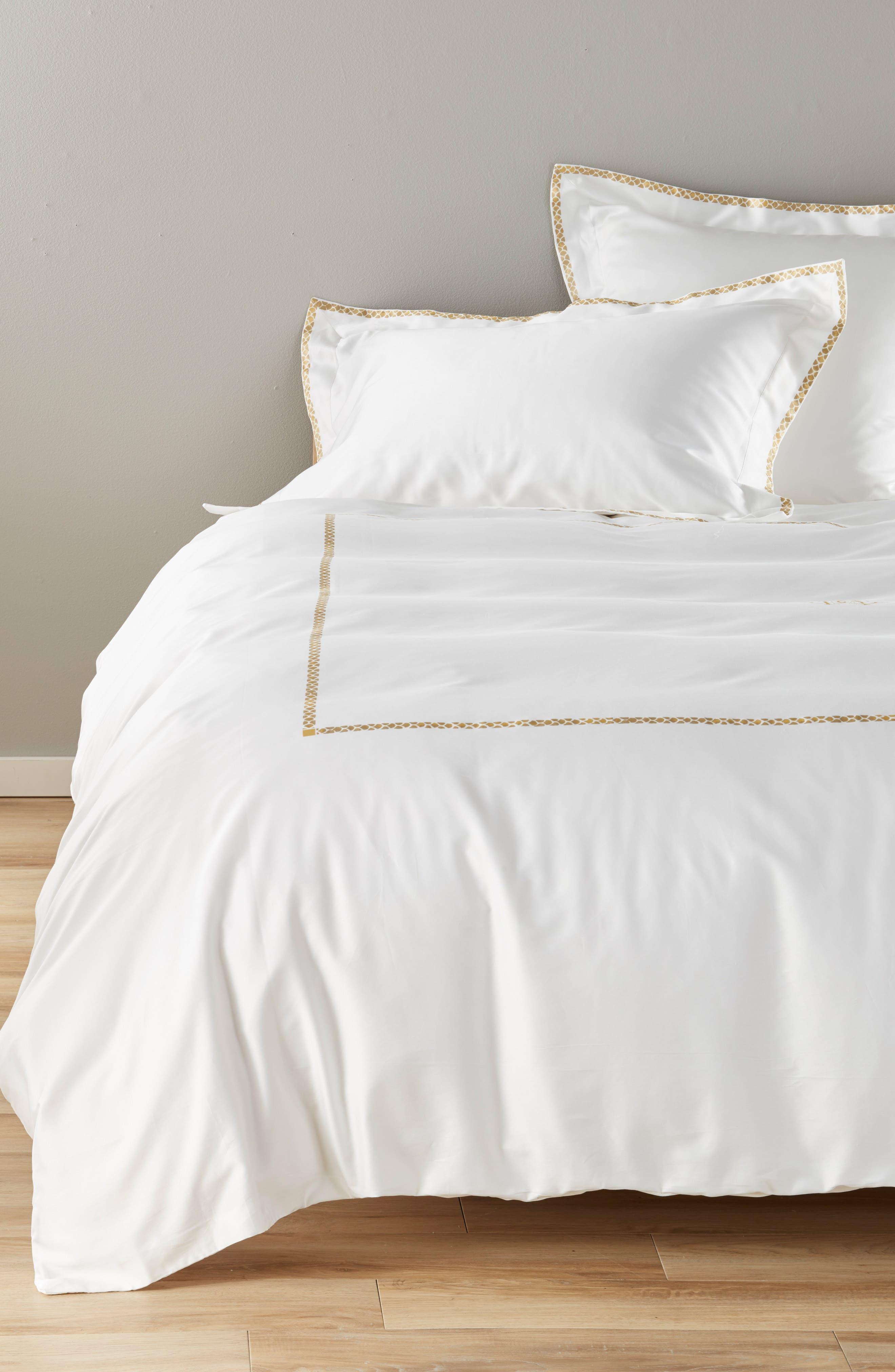 Roberto Cavalli New Gold Duvet Cover Size King  White