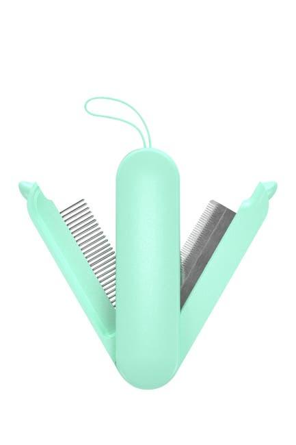Image of Pet Life JOYNE Multi-Functional 2-in-1 Swivel Travel Grooming Comb and Deshedder