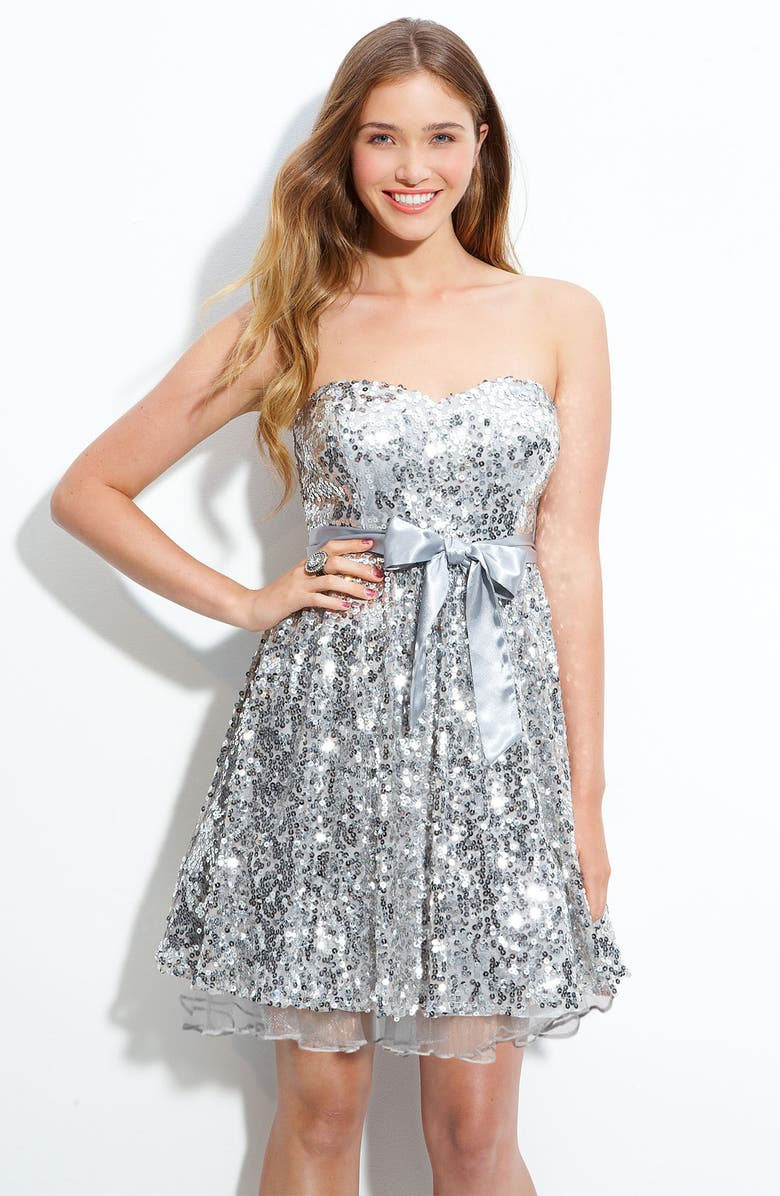 WAY-IN Sequined Party Dress, Main, color, 040
