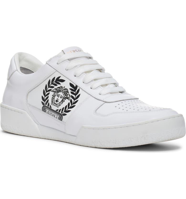 VERSACE Logo Sneaker, Main, color, 100