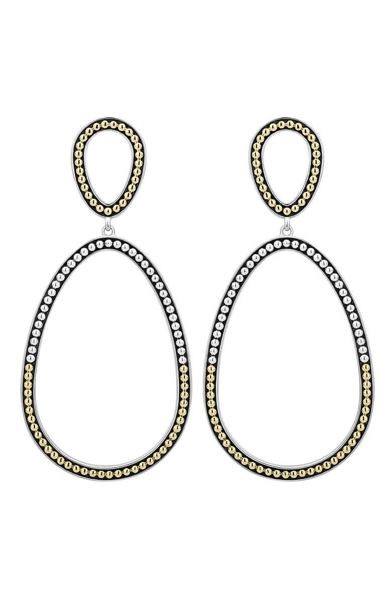 LAGOS Signature Caviar Double Ovoid Drop Earrings, Main, color, TWO TONE