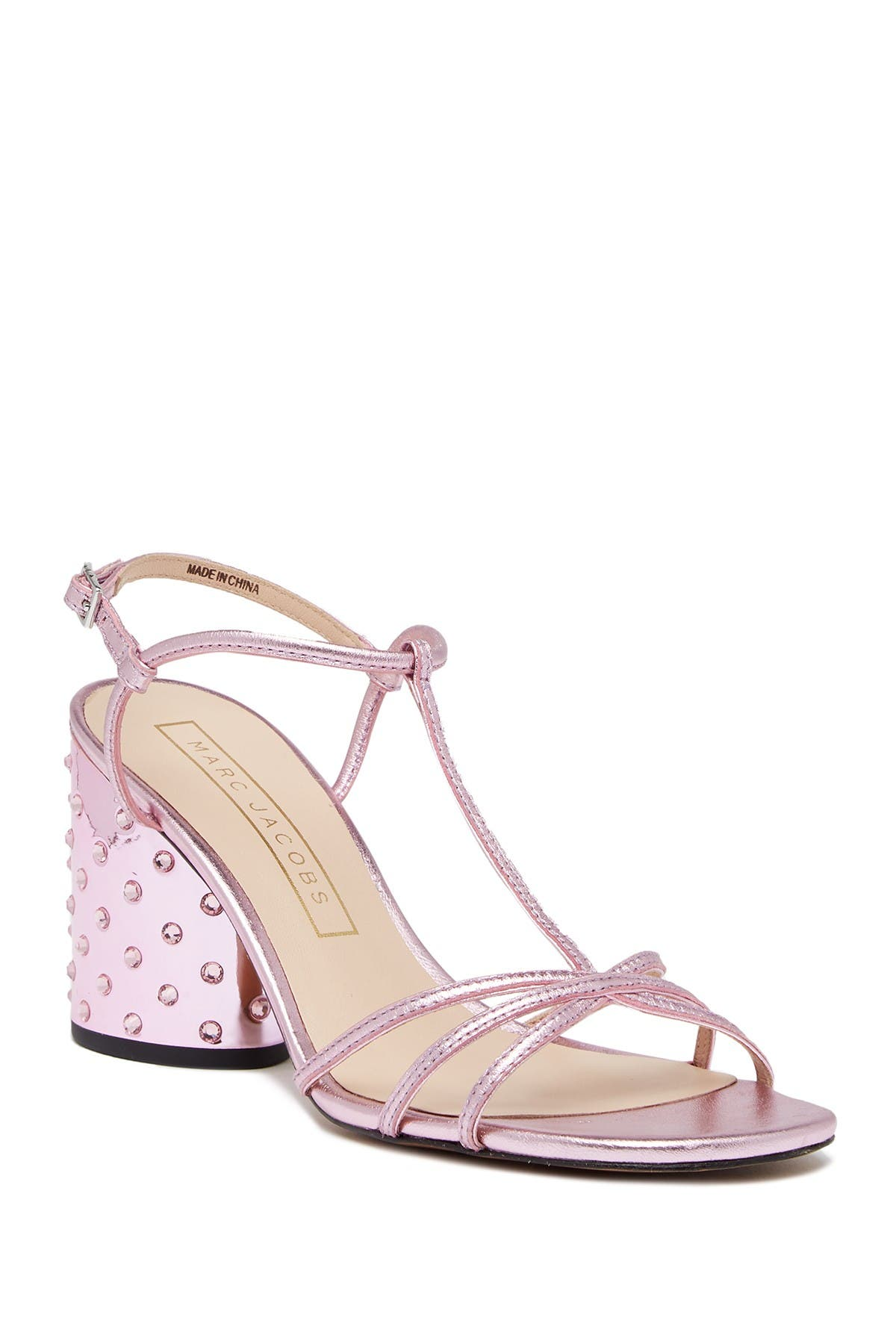 Image of Marc Jacobs Sheena Crystal Embellished Block Heel Sandal