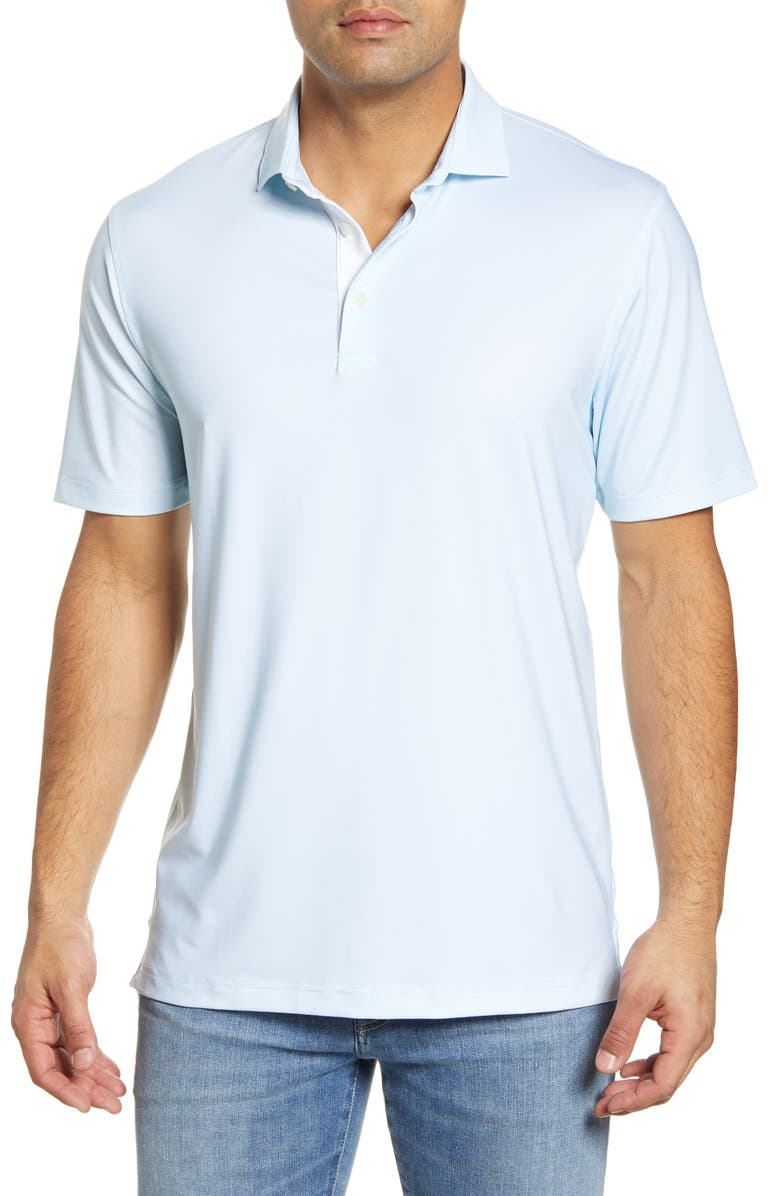 JOHNNIE-O Robben Classic Fit Performance Polo, Main, color, GULF BLUE
