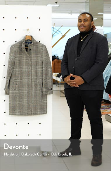 Plaid Wool Blend Coat, sales video thumbnail