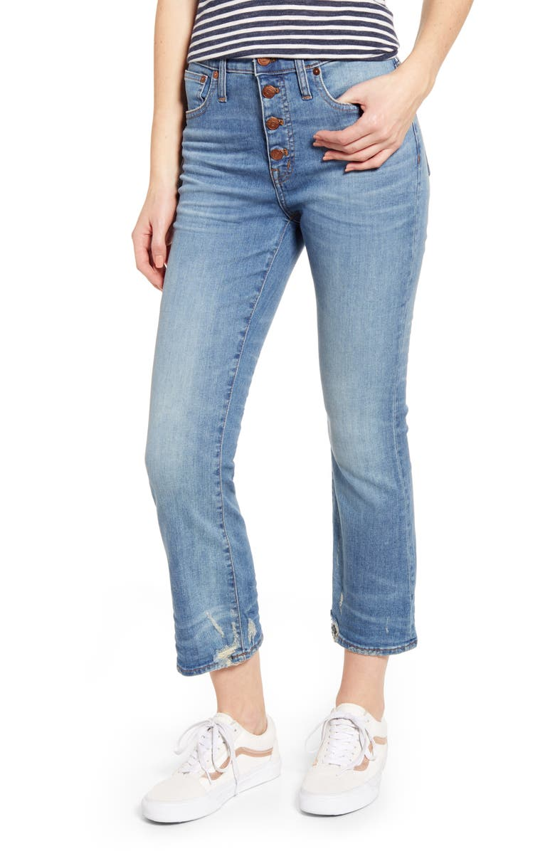 MADEWELL Cali Button Fly Demi Bootcut Jeans, Main, color, 400