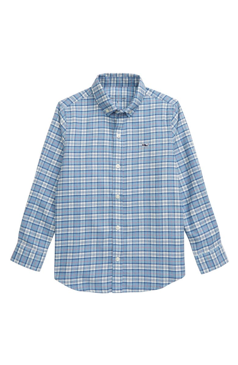 VINEYARD VINES Cades Plaid Button-Down Flannel Shirt, Main, color, COASTLINE