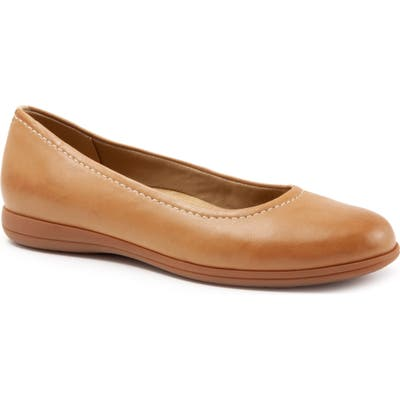 Trotters Darcey Skimmer Flat- Brown