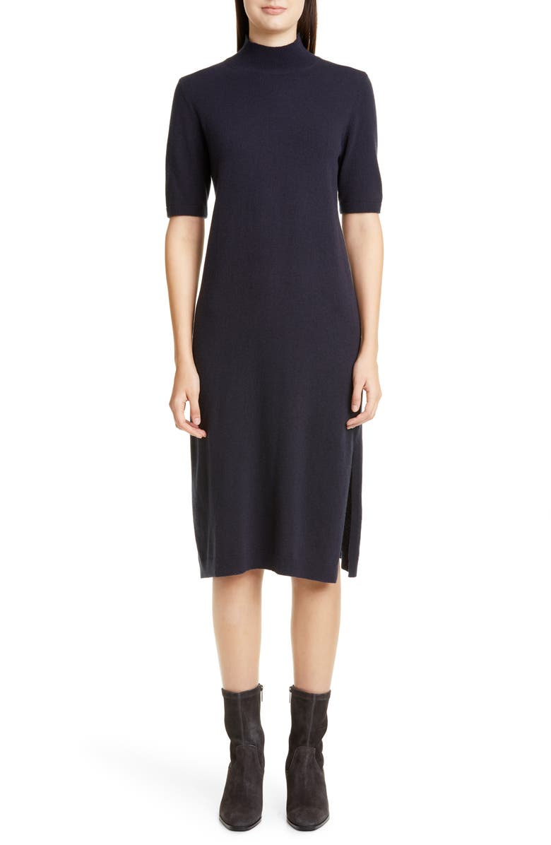 LAFAYETTE 148 NEW YORK Merino Wool & Cashmere Sweater Dress, Main, color, 001
