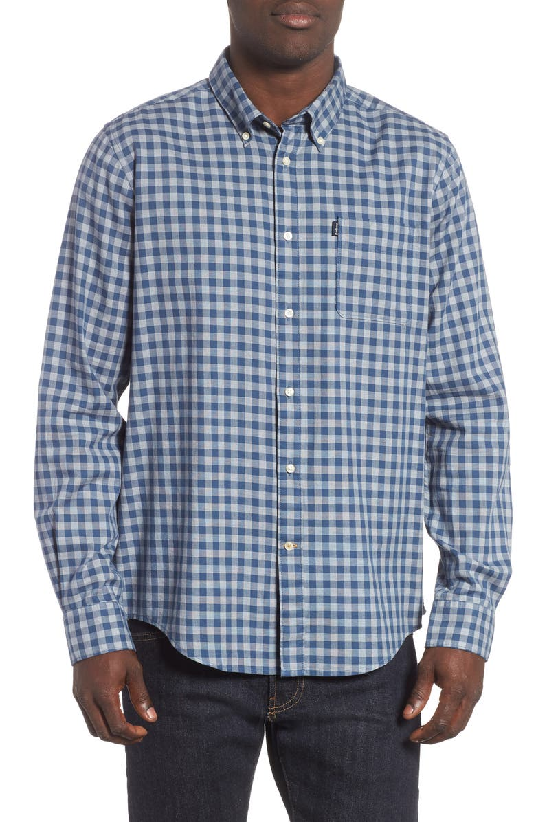 BARBOUR Tailored Fit Endsleigh Gingham Sport Shirt, Main, color, 420