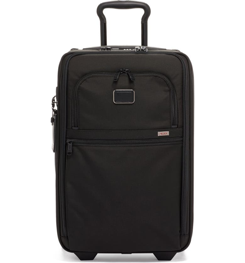TUMI Apha 2 Collection 22-Inch International Expandable Wheeled Carry-On, Main, color, BLACK