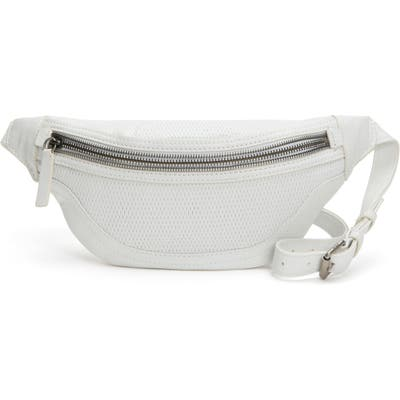 Frye Lena Perforated Leather Belt Bag - White