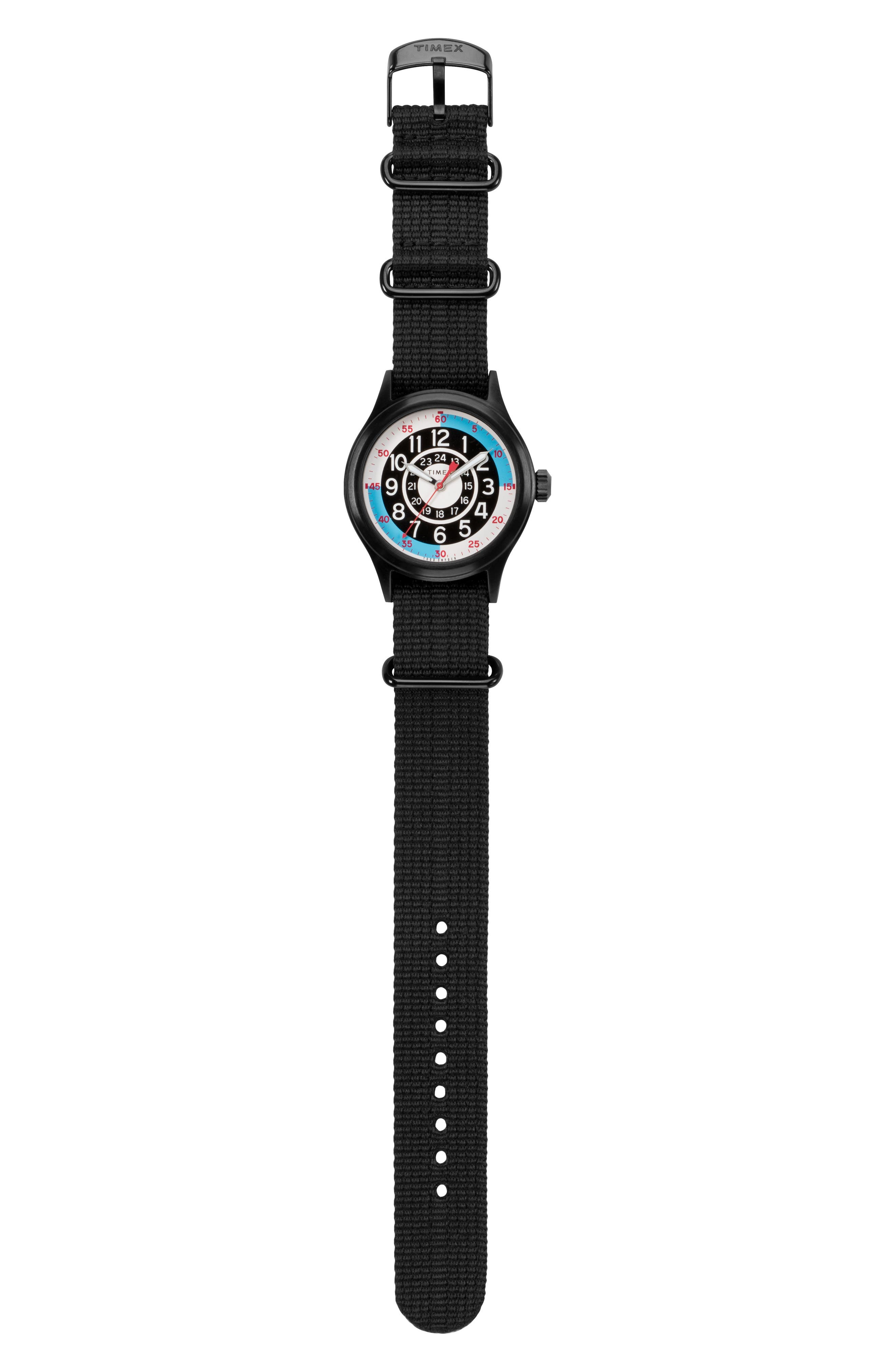 ,                             The Blackjack NATO Strap Watch, 40mm,                             Alternate thumbnail 6, color,                             WHITE/ BLACK