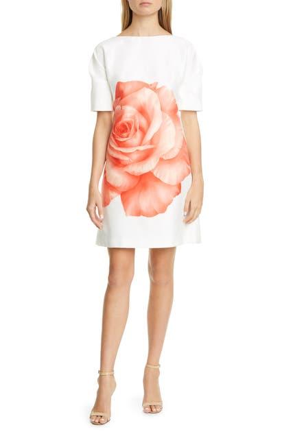 Lela Rose Dresses ROSE PRINT SHEATH DRESS