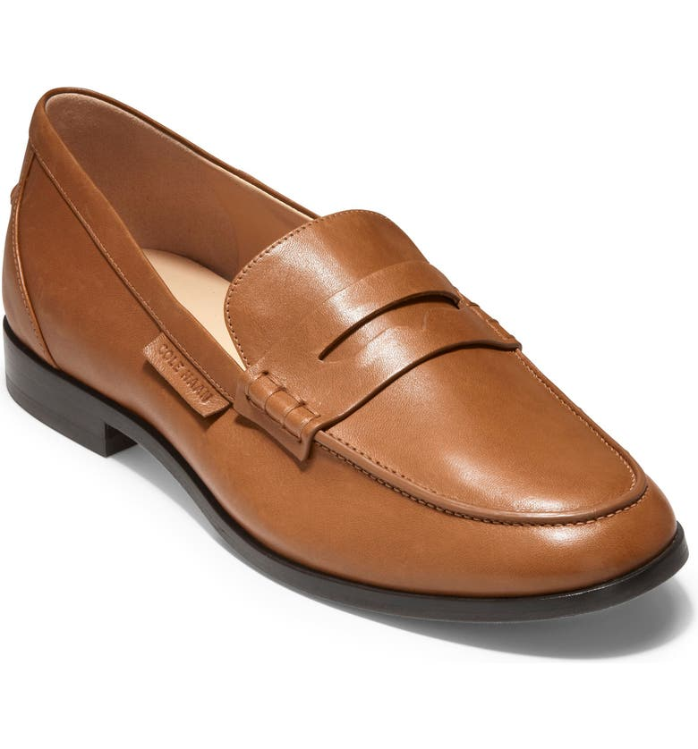 COLE HAAN McKenna Penny Loafer, Main, color, BRITISH TAN LEATHER