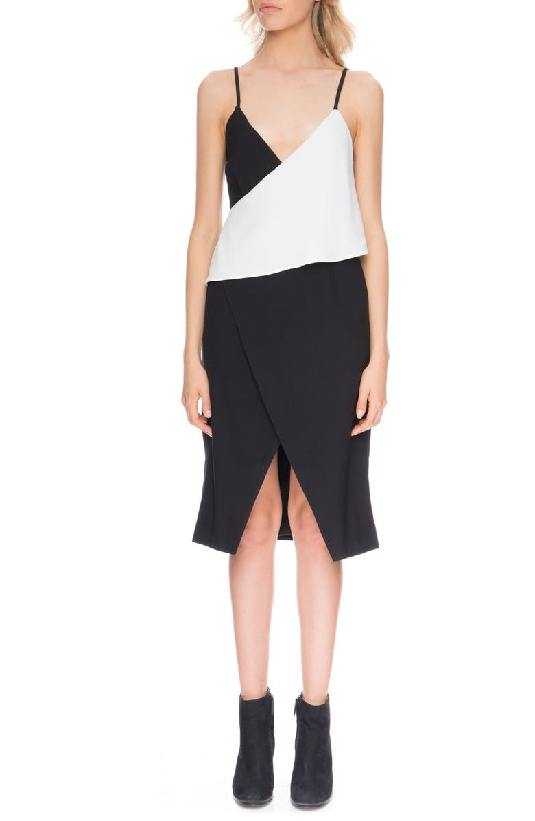 FINDERS KEEPERS the Label 'Hold Us' Surplice Dress, Main, color, 001