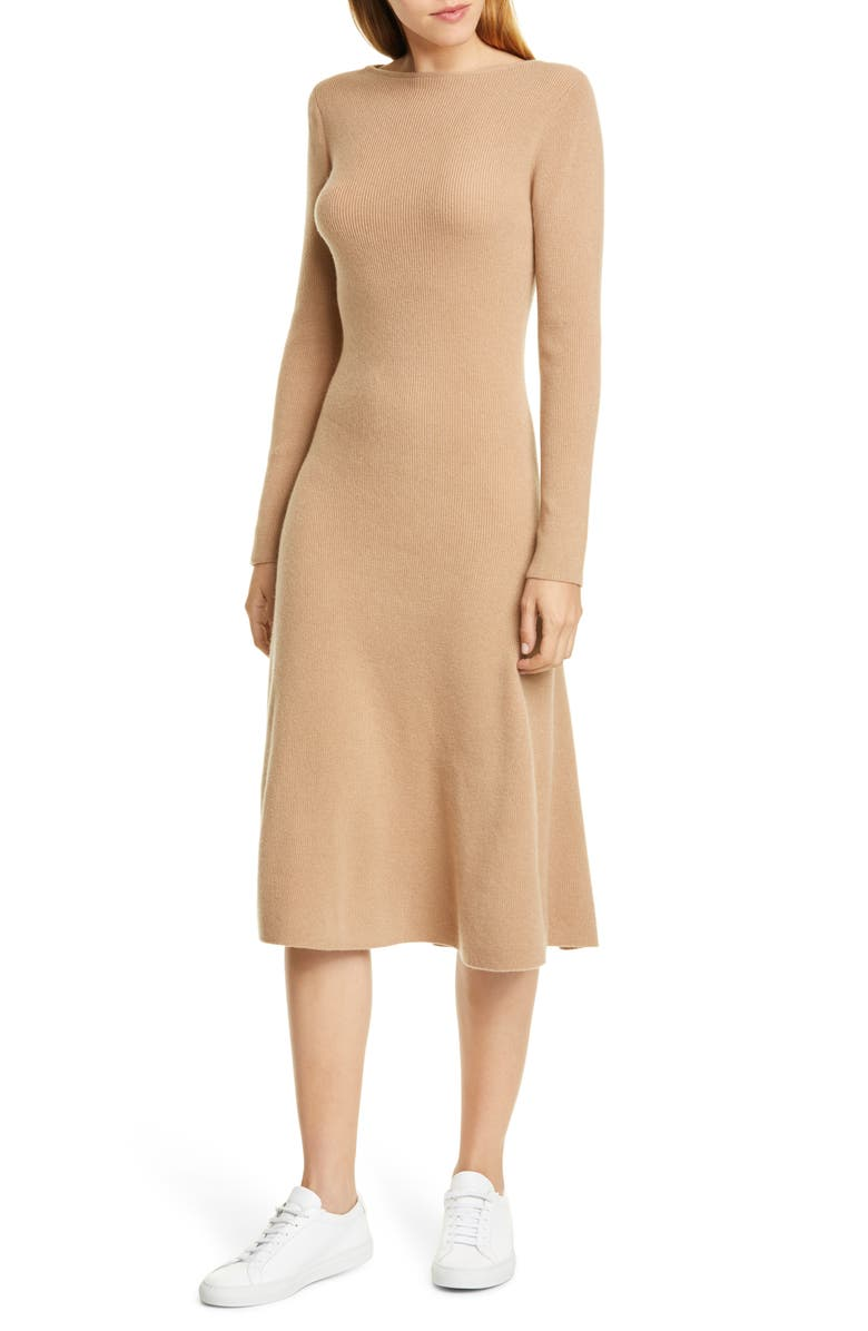 NORDSTROM SIGNATURE Long Sleeve Cashmere Blend Sweater Dress, Main, color, 210