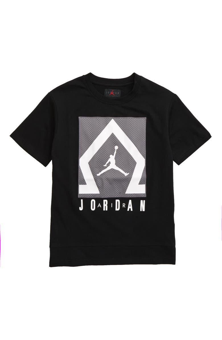 JORDAN Diamond Shooter Graphic T-Shirt, Main, color, BLACK