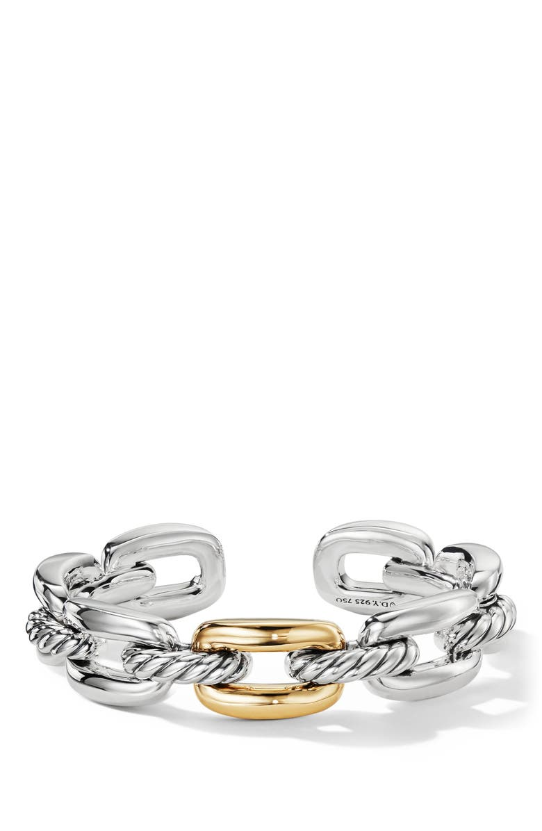 DAVID YURMAN Wellesley Link Single Stack Bracelet with 18K Gold, Main, color, 18K YELLOW GOLD/ SILVER