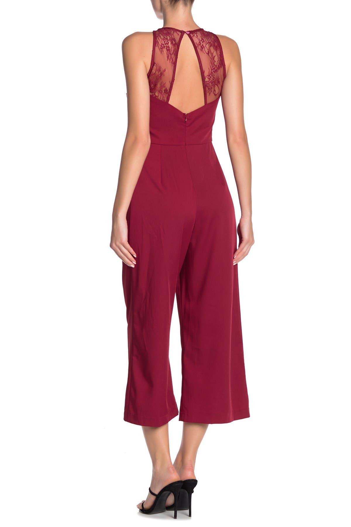 ONE ONE SIX Lace Sleeveless Jumpsuit