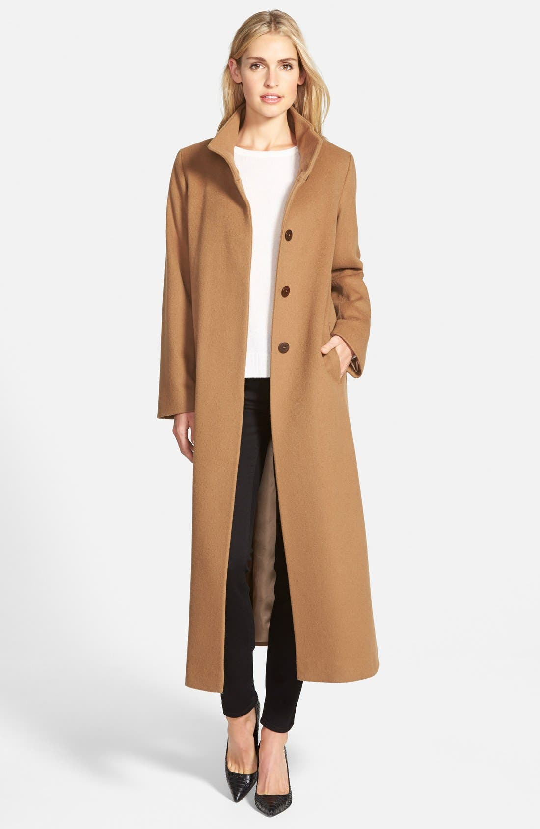 ,                             Long Wool Coat,                             Main thumbnail 9, color,                             260