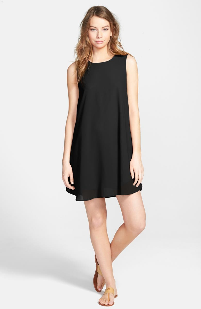 EVERLY Woven Shift Dress, Main, color, 001