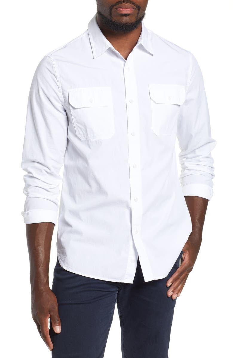 AG Benning Slim Fit Utility Shirt, Main, color, 100