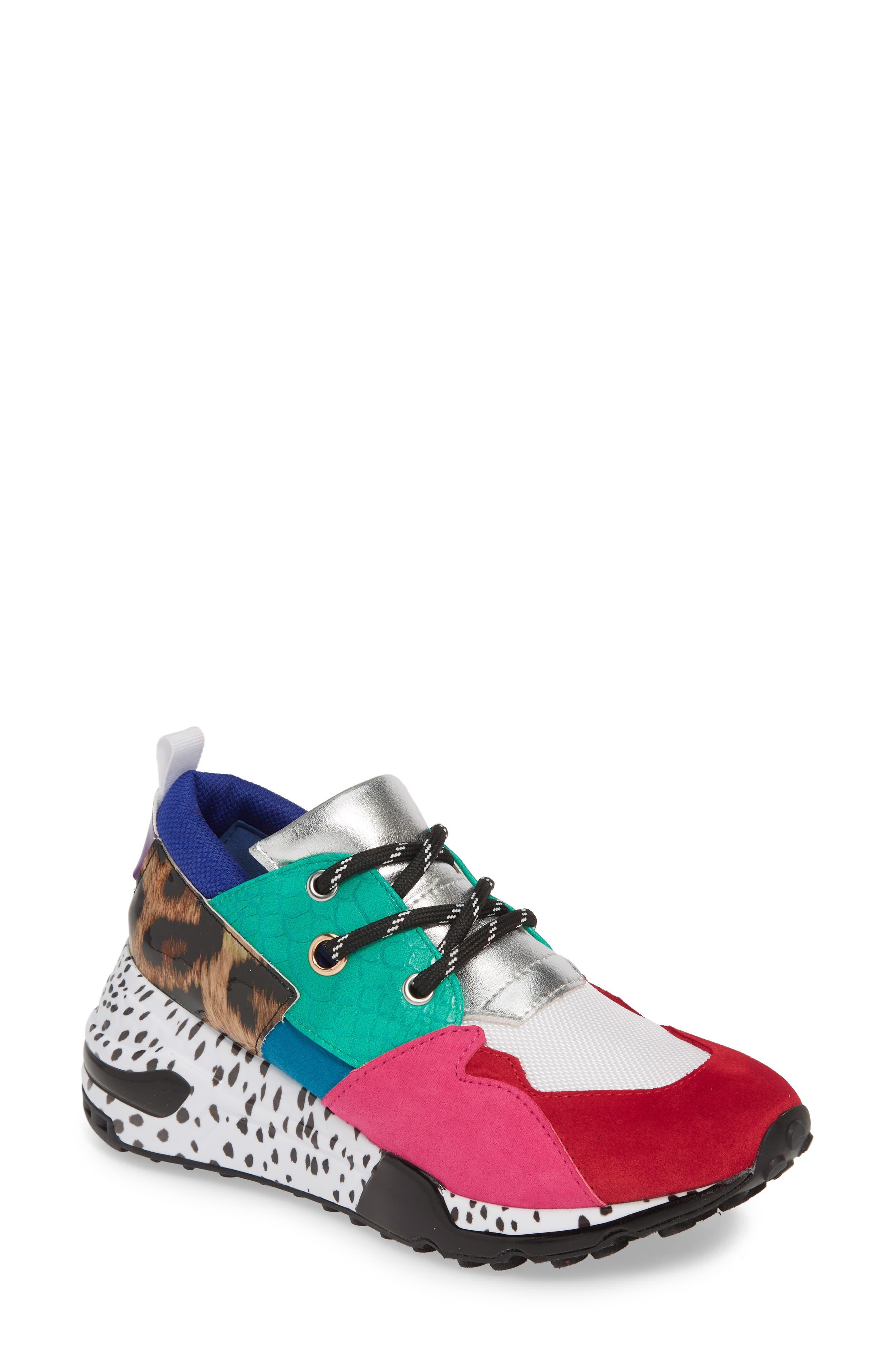 Steve Madden Cliff Sneaker In Rainbow