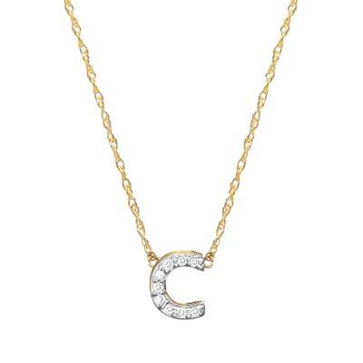 Jane Basch Designs Diamond Initial Pendant Necklace