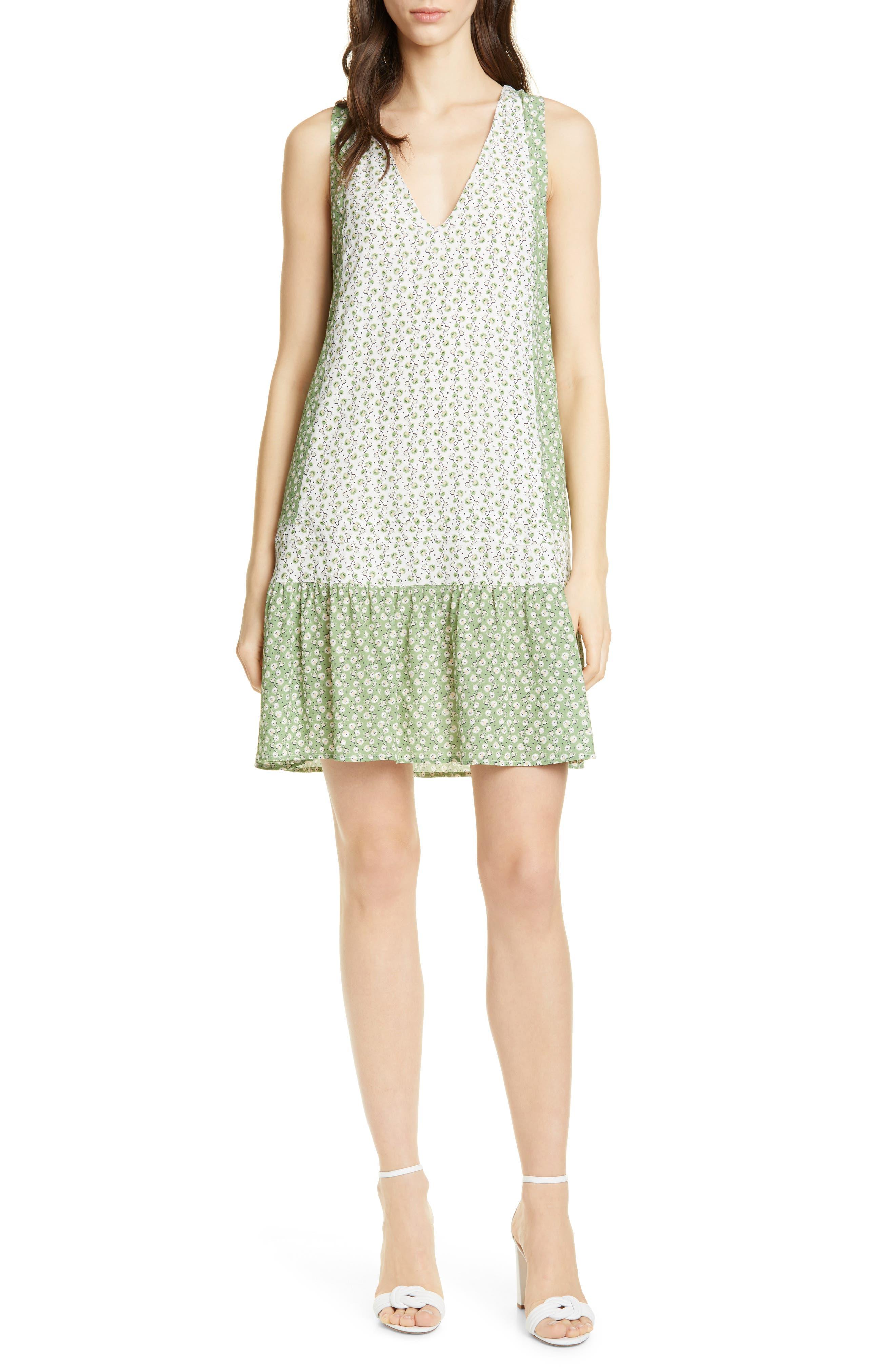 Dolan Chickie Floral Sleeveless Minidress, Green
