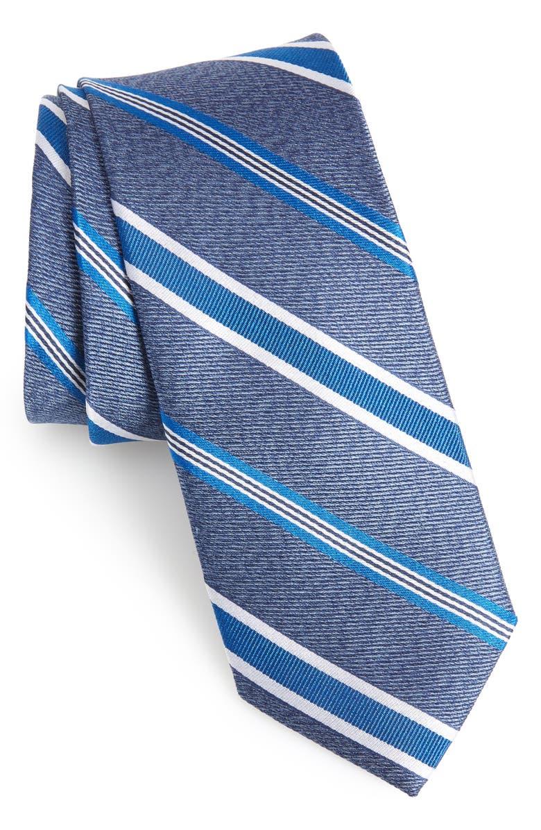 1901 Astible Stripe Silk Tie, Main, color, NAVY