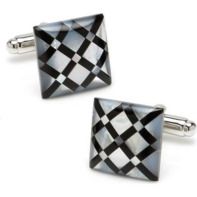 Cufflinks, Inc. Diamond Pattern Inlay Cuff Links