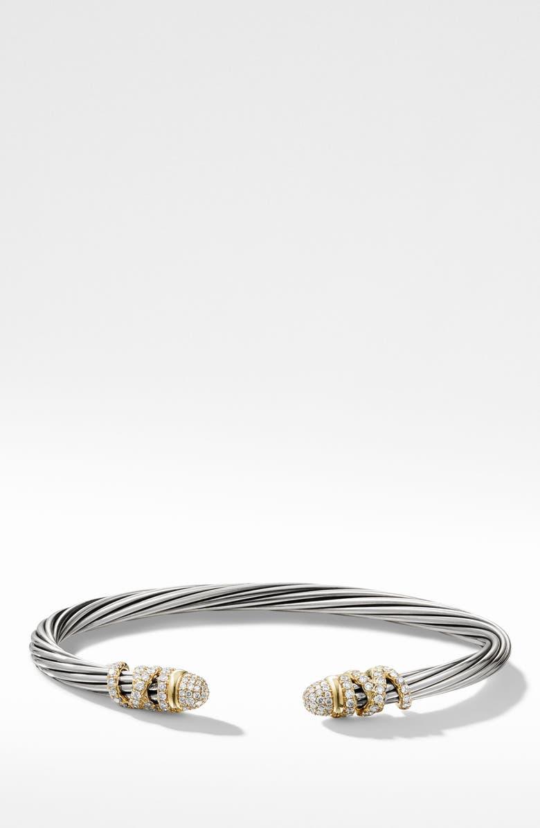 DAVID YURMAN Helena Bracelet with Diamonds, Main, color, GOLD/ SILVER/ DIAMOND