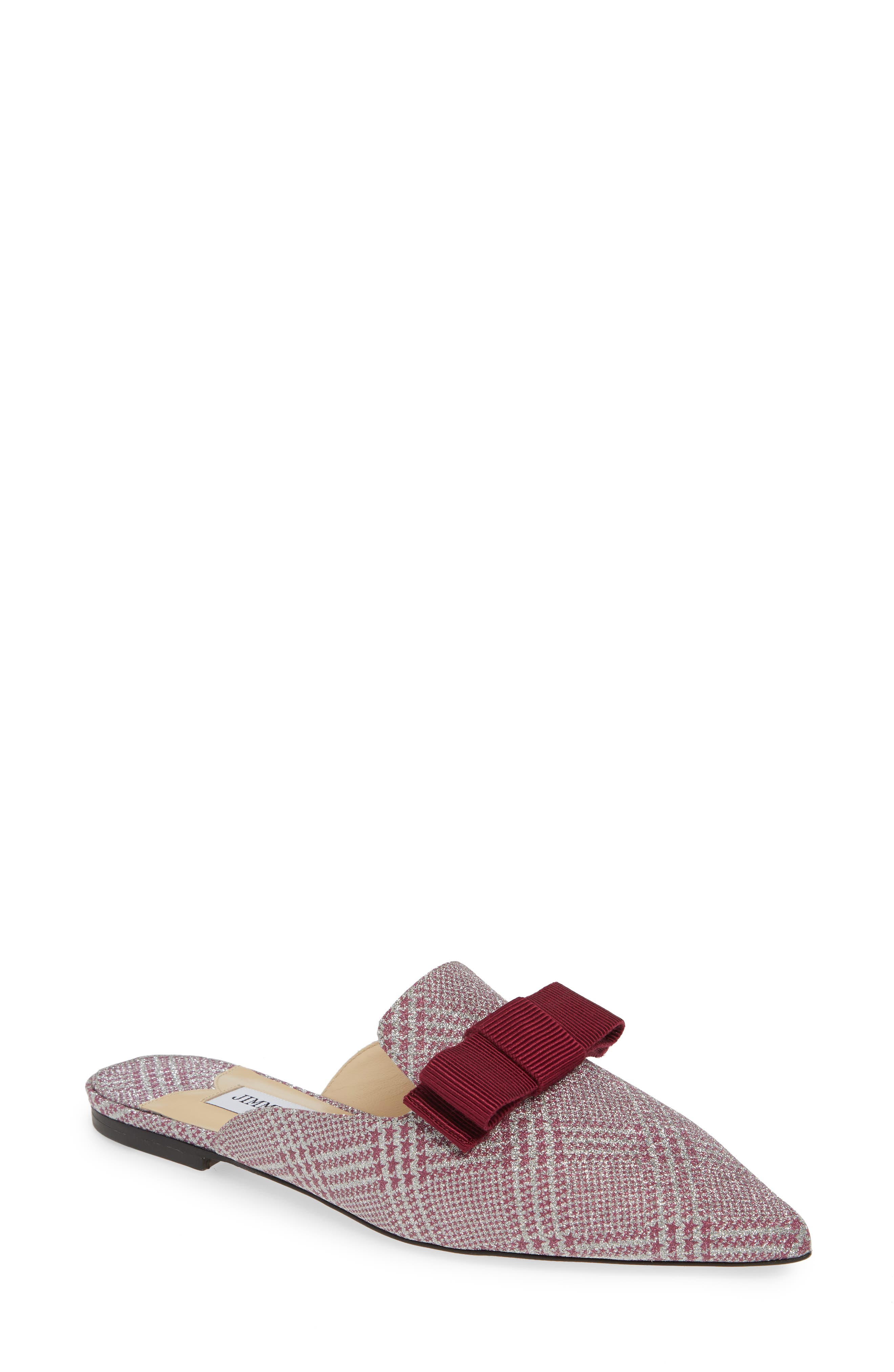 Jimmy Choo Galaxy Bow Loafer Mule, Pink