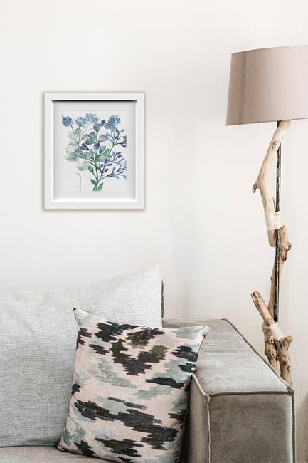 Image of PTM Images Blue Floral I Framed & Matted Giclee
