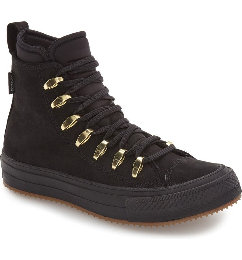 CONVERSE Chuck Taylor<sup>®</sup> All Star<sup>®</sup> Counter Climate - Quick Strike Water Repellent High Top Sneaker, Main, color, 001