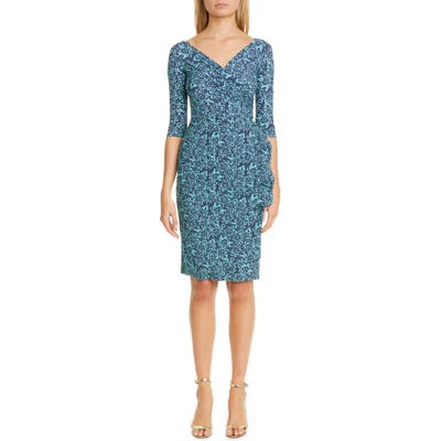 Chiara Boni La Petite Robe Florien Ruched Cocktail Dress, US - Green