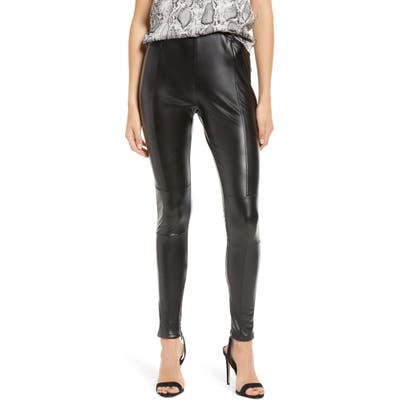 Bishop + Young Faux Leather Leggings, Black