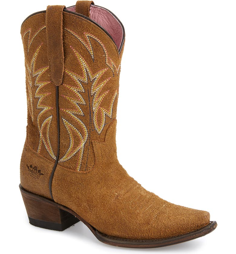LANE BOOTS x Junk Gypsy Dirt Road Dreamer Western Boot, Main, color, HONEY LEATHER