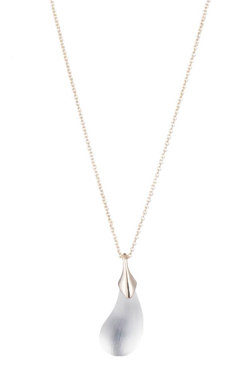 ALEXIS BITTAR Dewdrop Pendant Necklace, Main, color, SILVER