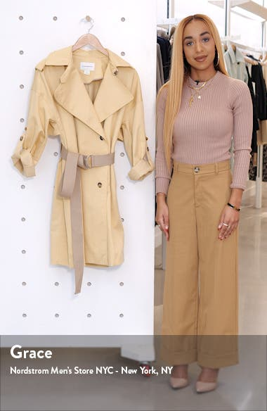 Belted Double Breasted Trench Coat, sales video thumbnail